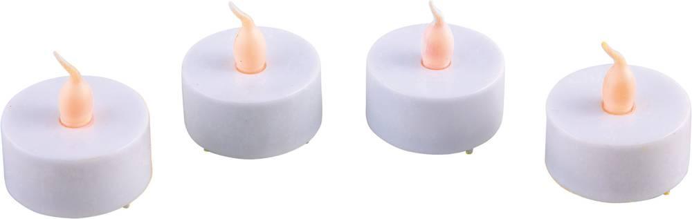 Heitronic-Candela-34166-LED-Teelicht-4er-Set-Kerze-LED-Amber-Weiss